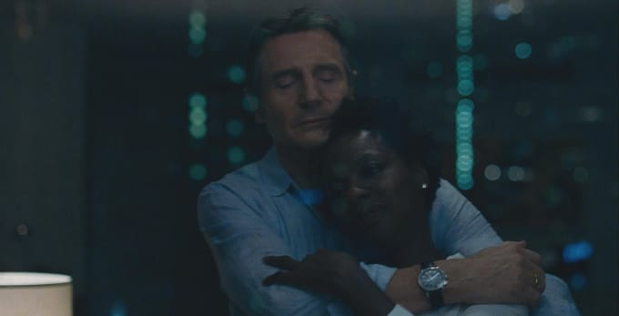 Liam Neeson and Viola Davis in 'Widows'