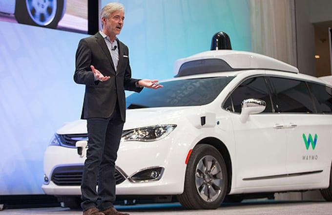 Waymo during Detroit Car Show.