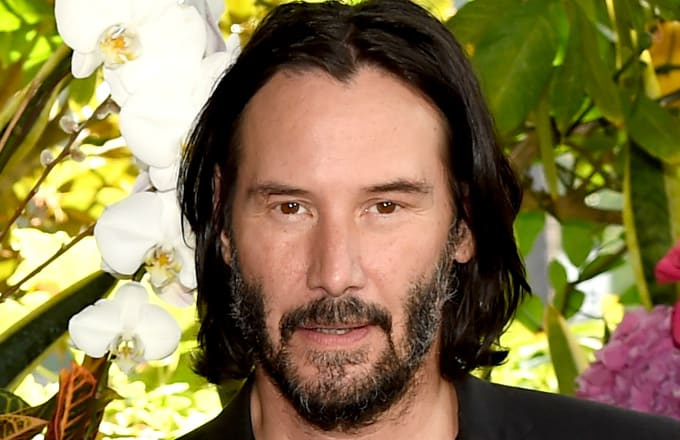 Keanu Reeves attends a photo call for Regatta's 'Destination Wedding'