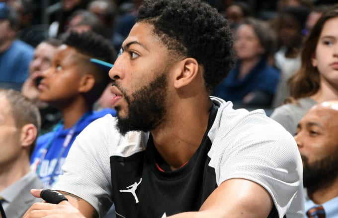 Anthony Davis #23 of Team LeBron looks on during the game