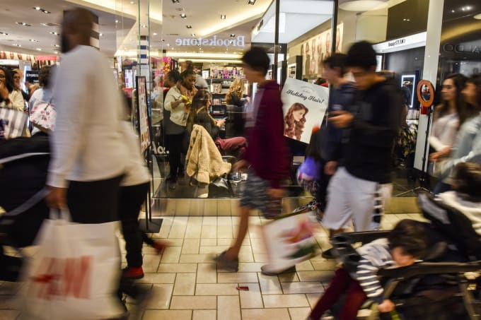Consumers take to Black Friday shopping at Tysons Corner Center