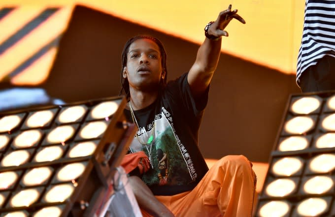 ASAP Rocky performs at a concert