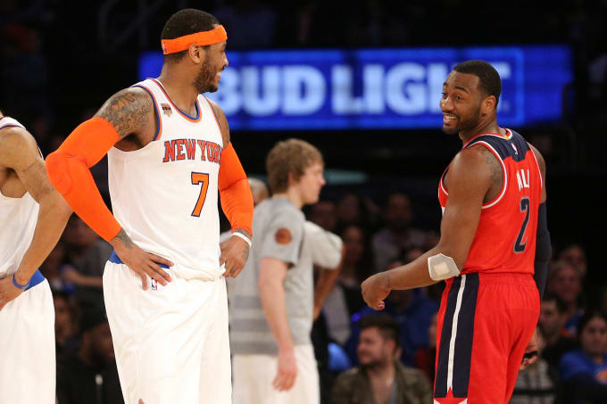 Carmelo Anthony John Wall Madison Square Garden 2017