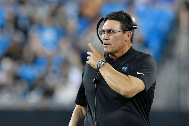 This is a picture of Panthers Coach.
