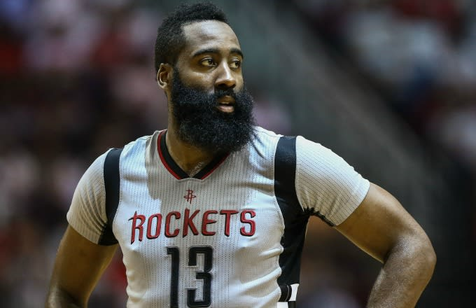 38138f50bcb Here s the Story Behind the James Harden Banner Hanging in a Houston Strip  Club