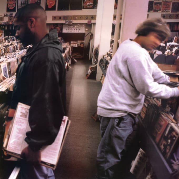 DJ Shadow's 'Endtroducing' cover.