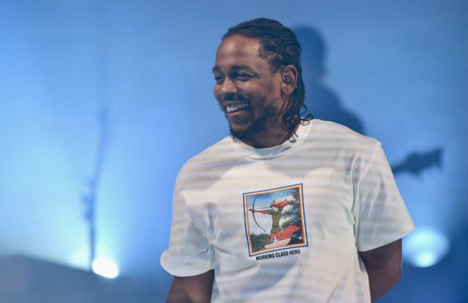 Kendrick Lamar performs at a recent concert.