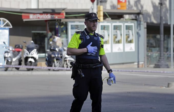 Police officer in Spain