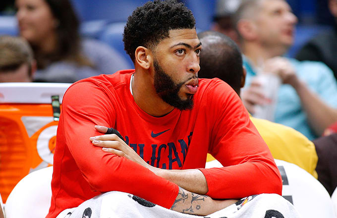 Anthony Davis weighing up his options, probably.