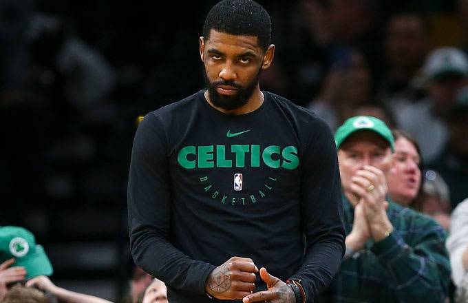 853939eb7be2 Camera Guy Greets Kyrie Irving at TD Garden