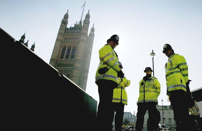 Police in London in the UK.