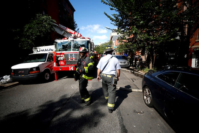 Firefighters in New York
