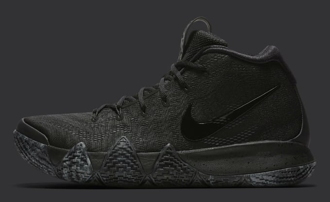 sports shoes 2b365 375e3 Nike Kyrie 4 Triple Black Release date 943807-008 Profile. Image via Nike