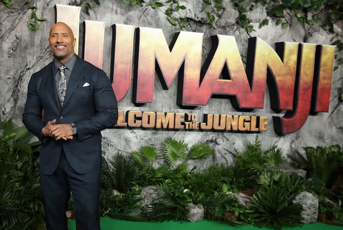 "Dwayne ""The Rock"" Johnson at the 'Jumanji' premire."