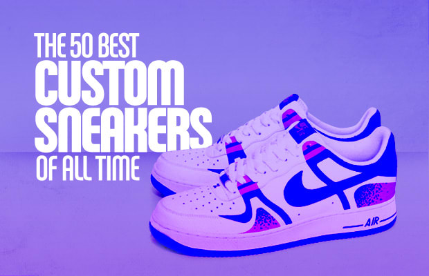 check out 57215 28a11 The 50 Best Custom Sneakers of All Time   Complex