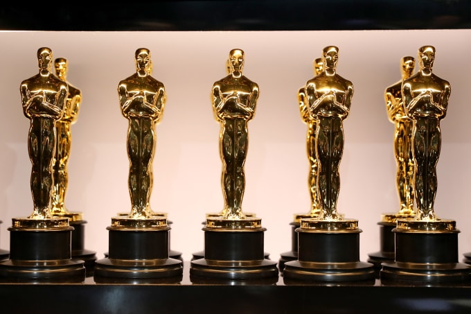 Oscar Statues at the 90th Annual Academy Awards at the Dolby Theatre
