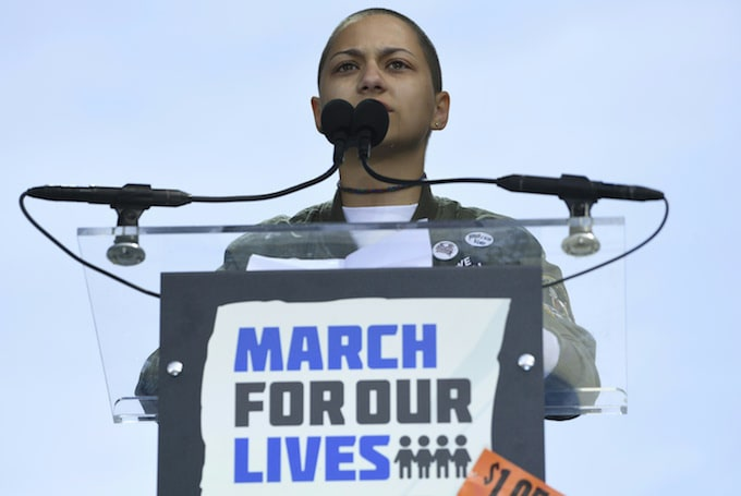 Emma Gonzalez at March for Our Lives rally.