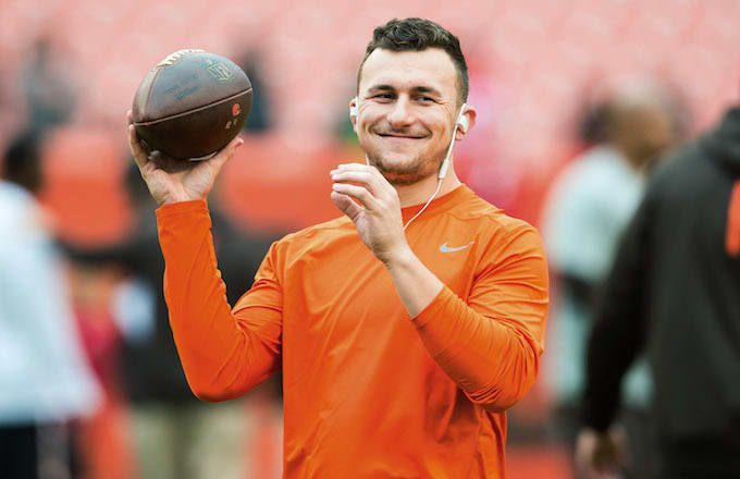 This is Johnny Manziel while he was still with the Browns.
