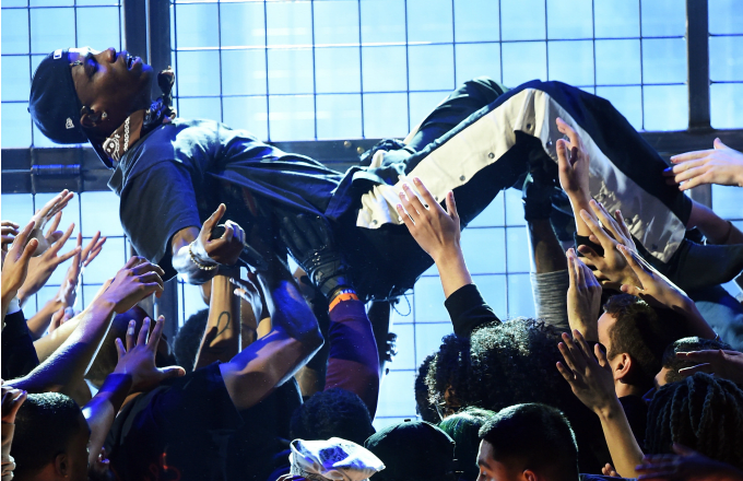 Travis Scott performs onstage during the 61st Annual GRAMMY Awards