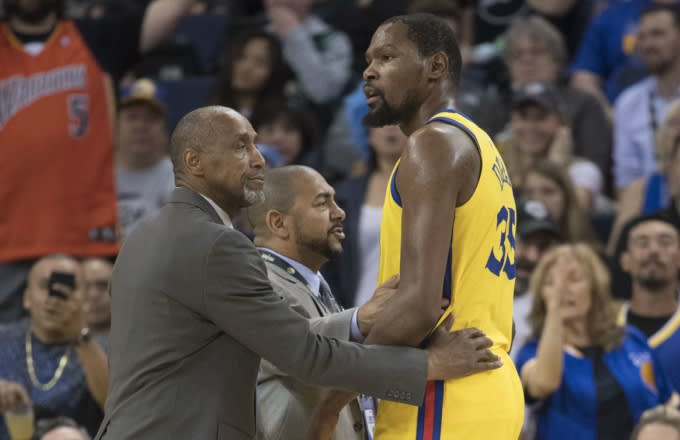 Kevin Durant ejected.