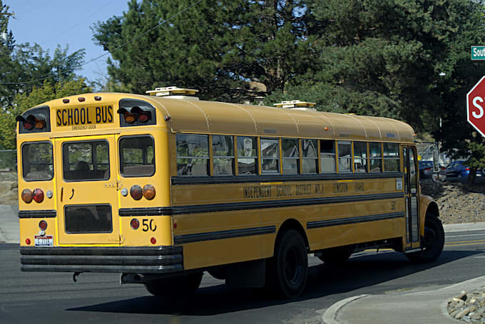School bus in Idaho