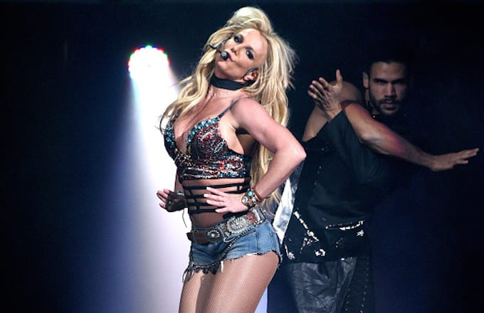 Britney Spears performs during the Now! 99.7 Triple Ho Show 7.0