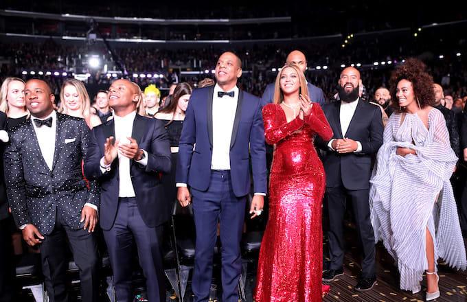 Yo Gotti, Jay-Z, Beyonce, Alan Ferguson and Solange Knowles