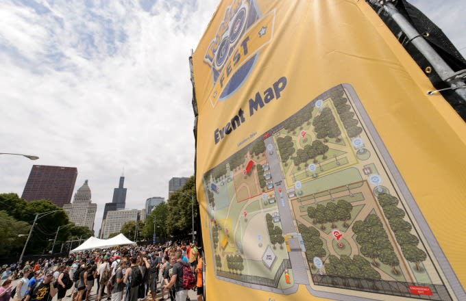 Pokémon Go Festival map.