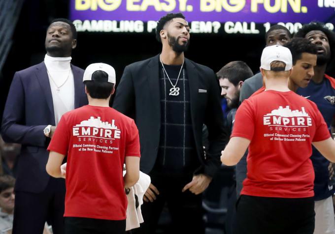 Anthony Davis Pelicans Nuggets 2019