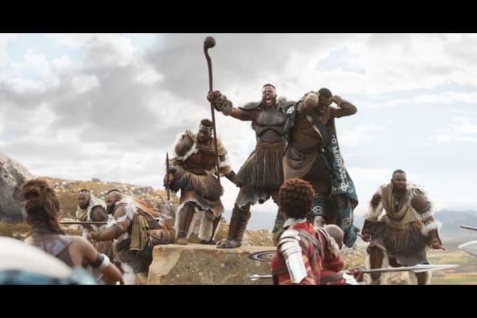 Cena de luta 'Black Panther'