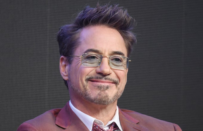 09c9a794e674d Robert Downey Jr. during a press conference for  Avengers  End Game.