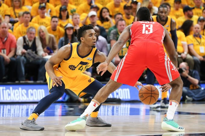 c4754d27bf6e Donovan Mitchell Called Out James Harden After Game 4 Loss