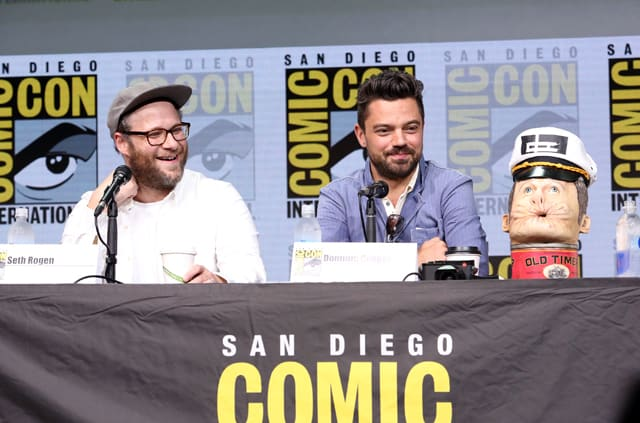 Seth Rogen and Dominic Cooper at San Diego Comic-Con 2017