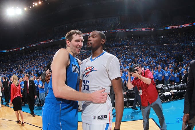 ae73981f84e9 Kevin Durant Isn t Sure That Dirk Nowitzki Is Actually Retiring ...