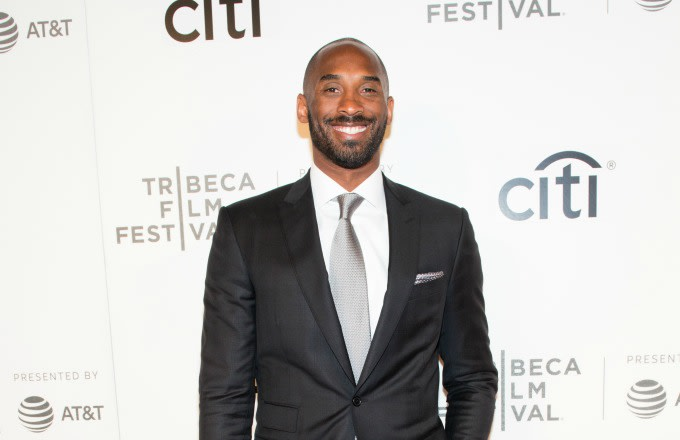 Kobe Bryant hits the red carpet at the Tribeca Film Festival.