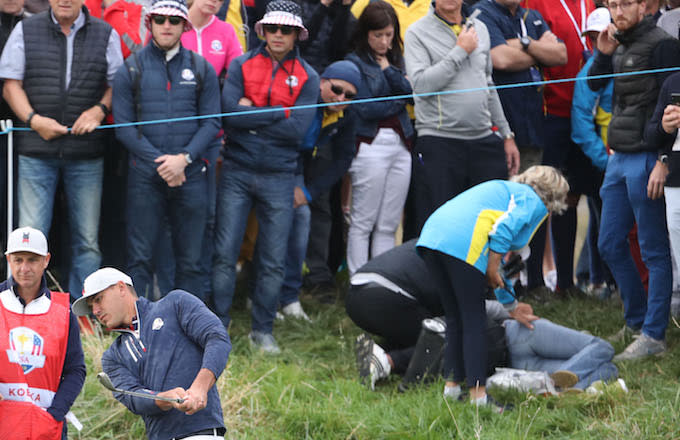 3ed4bbc35f5 Woman Plans to Sue Ryder Cup After Eyeball  Exploded  From Tee Shot ...