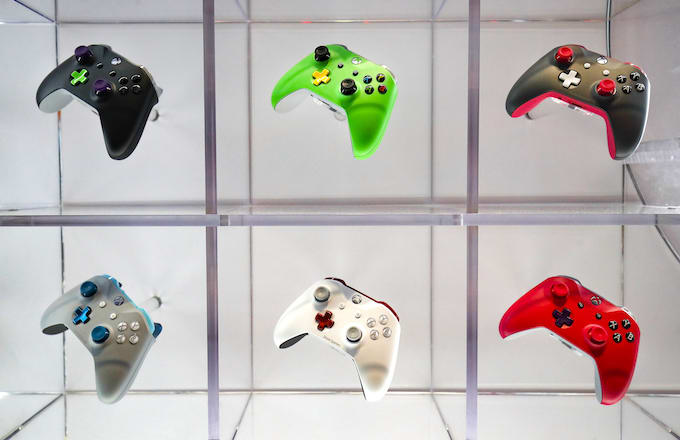 Xbox controller at the Gamescom 2018.