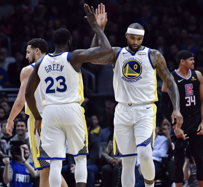 huge selection of daa37 f2fe3 DeMarcus Cousins Draymond Green Clippers Warriors 2019