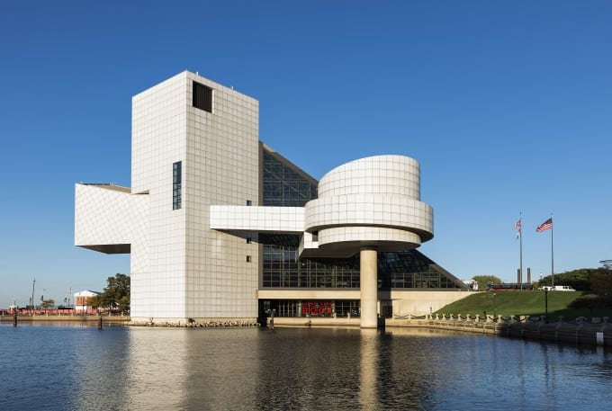This is a photo of the Rock & Roll Hall of Fame.