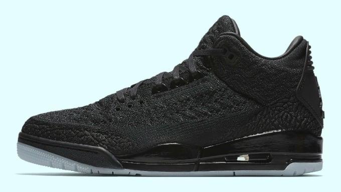 a894d2ef1d6b9 Air Jordan 3 Flyknit Black Release Date AQ1005-001 Profile. Image via Nike