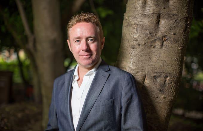 Portrait of Scottish comic book writer Mark Millar.