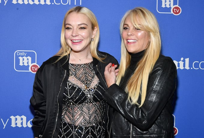 Dina and Linsday Lohan in New York