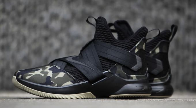 reputable site ff924 0b423 Nike LeBron Soldier 12 SFG  Camo