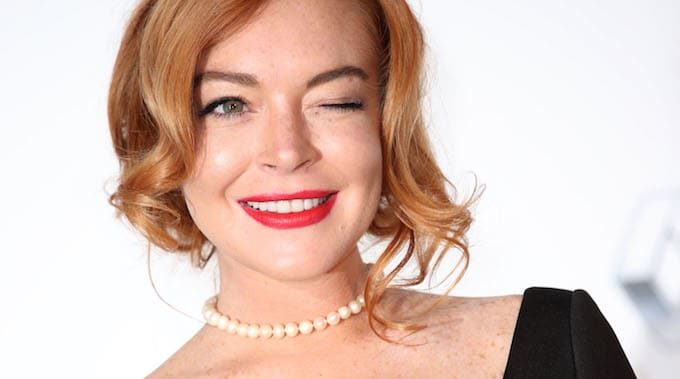 This is a picture of Lindsay Lohan.