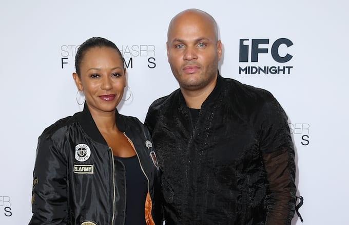 Singer Mel B and husband Stephen Belafonte attend the premiere of IFC Midnight's 'Intruder.'