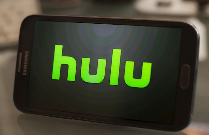 Hulu logo on a smartphone.