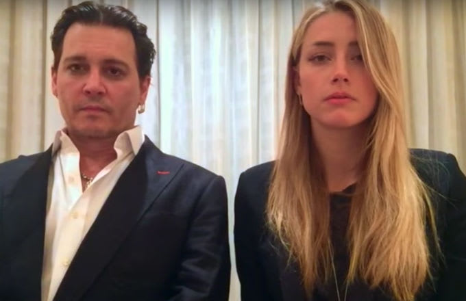 Johnny Depp and Amber Heard appear in their Australia apology video.