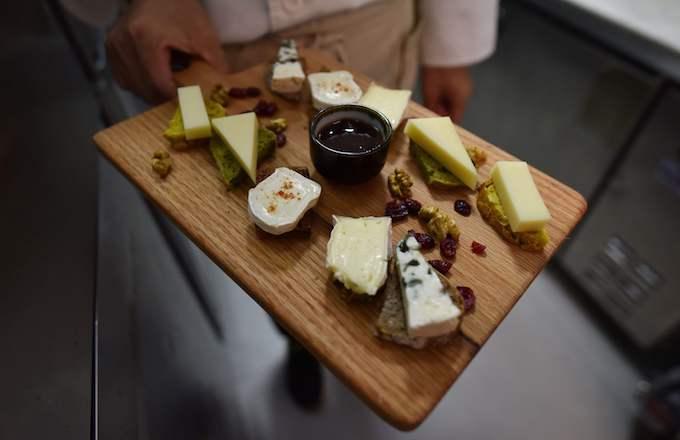 A cheese board.