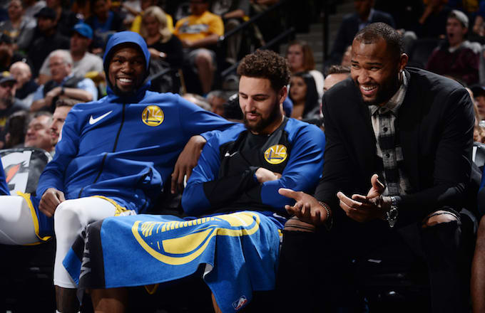 Kevin Durant, Klay Thompson, DeMarcus Cousins