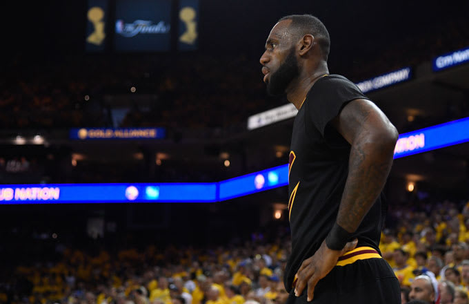 LeBron James during the 2017 NBA Finals